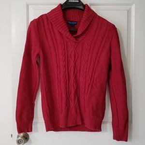 3/$30 Karen Scott Red cozy sweater